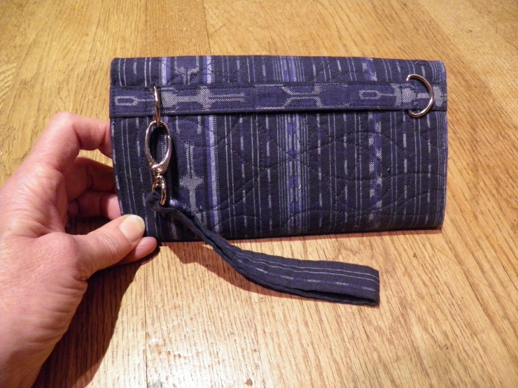 Back view of finished wallet