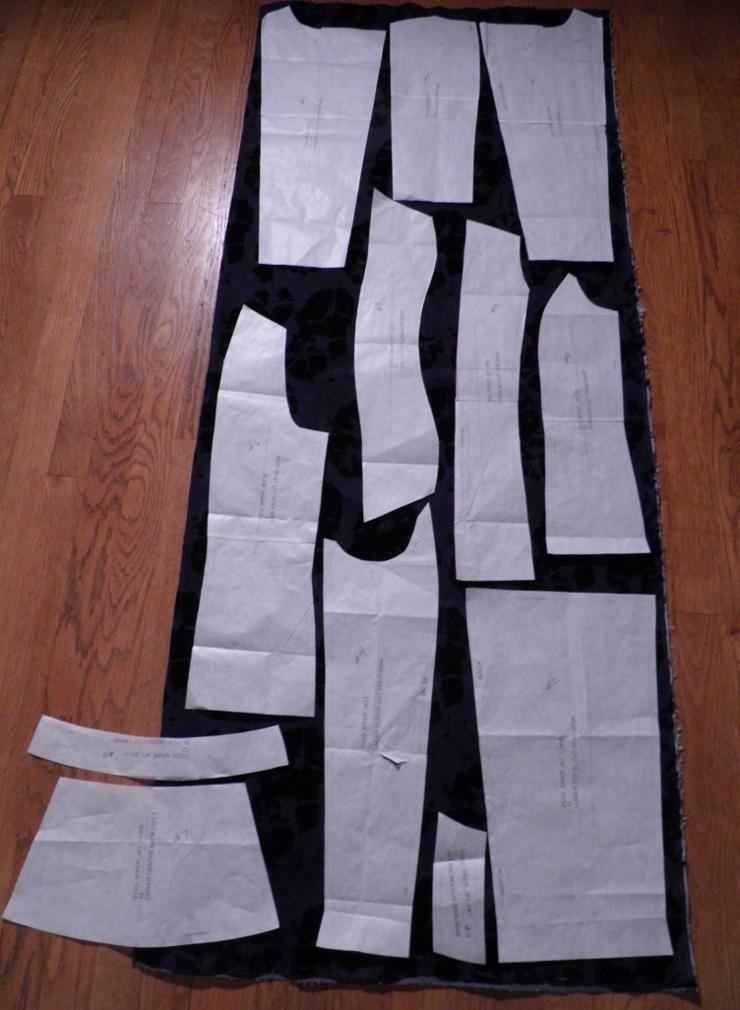 Denim with Ziggi pattern pieces