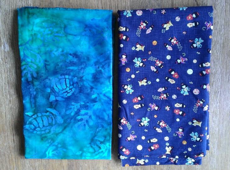 Fabric purchased at Kapaia Stitchery