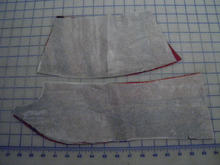 Tissue Paper Backing for cutting out lining