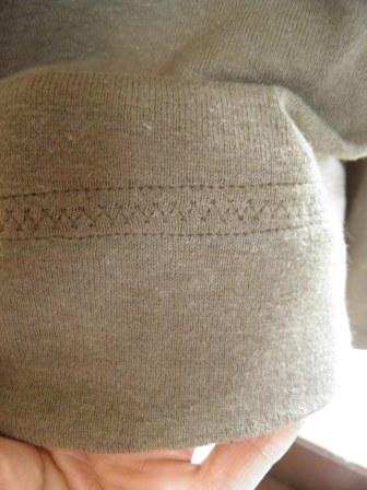 Decorative hem on knit t-shirt by Sew Maris