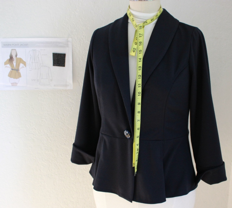 Style Arc Marni Jacket made by Sew Maris
