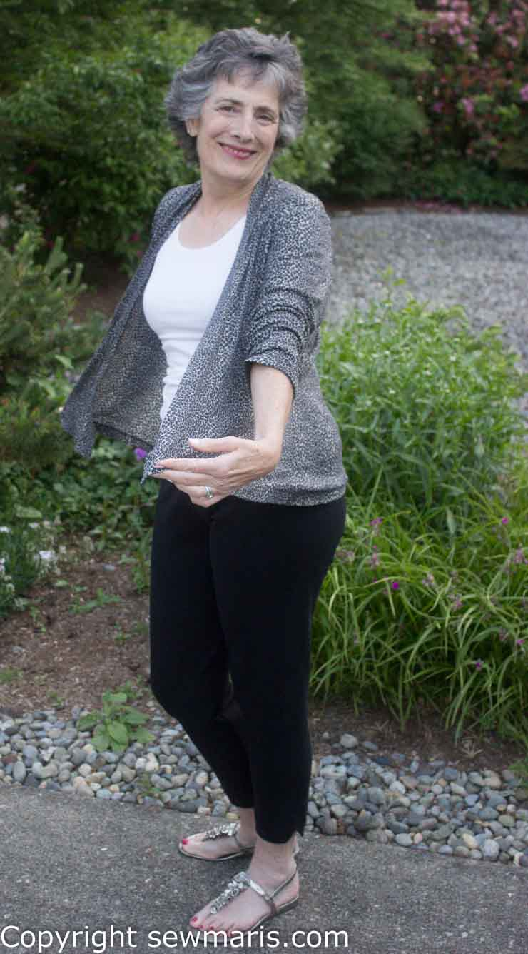 Pamela's Patterns Cool Cardigan Drape Front sewn by Sew Maris