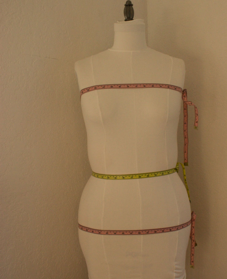 Dress form measurements by Sew Maris