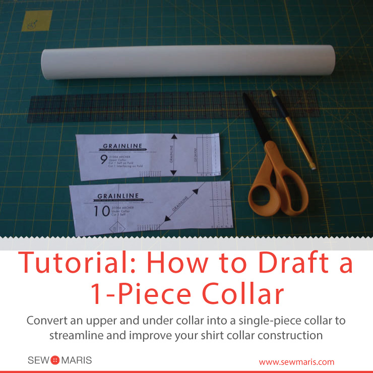 How to Draft a 1-Piece Collar by Sew Maris