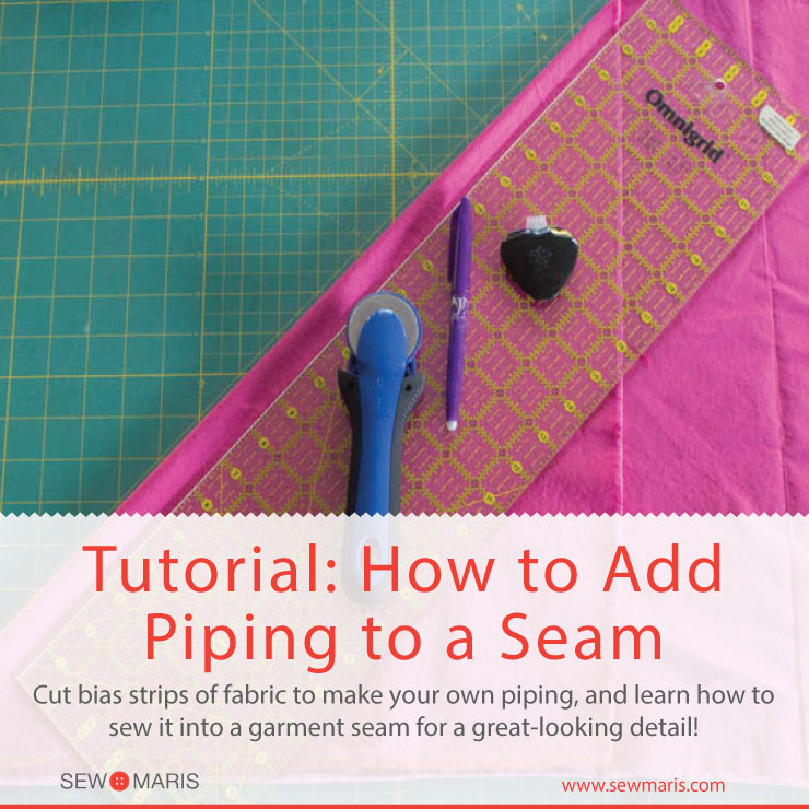 How to add Piping to a garment seam by Sew Maris