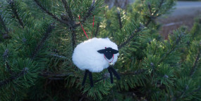 Wooly Lamb Christmas Ornament by Sew Maris