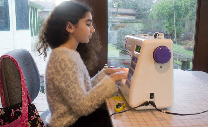 Sewing students at Sew Maris