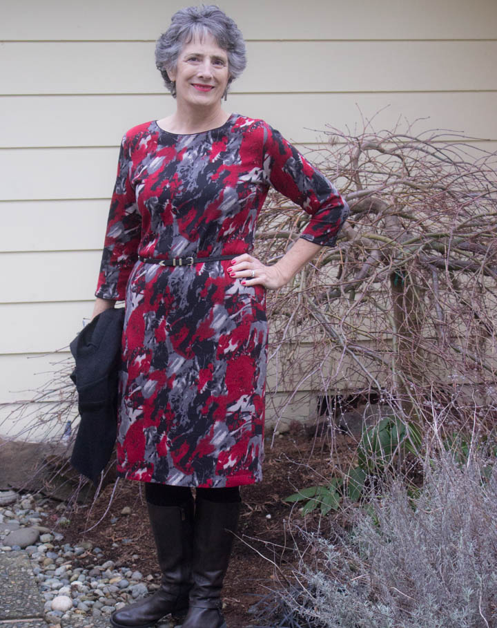 Red Sweater Dress by Sew Maris