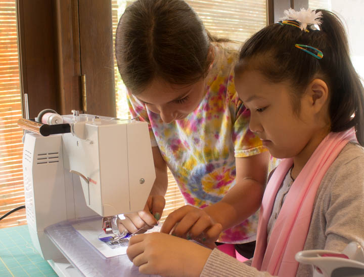 Sew Maris Sew Camp students