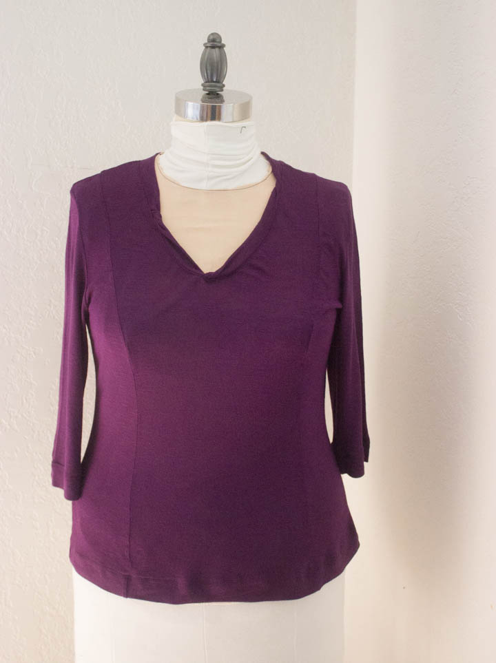 Purple Tissue Knit T-shirt by Sew Maris