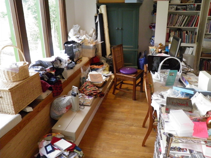 Behind Sewing Desk Area