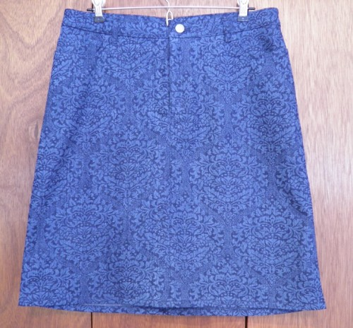 Front view of Style Arc denim skirt