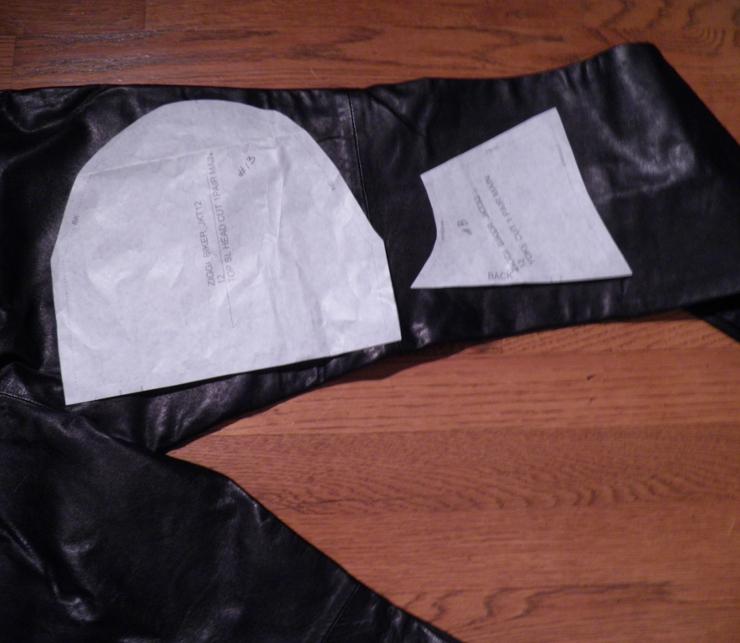 Black leather pants for Ziggi jacket accents