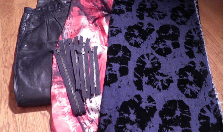 Fabric an dzipper sfor Ziggi jacket
