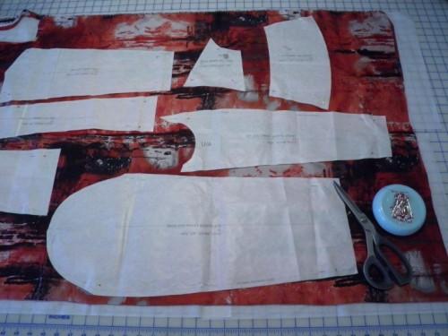 Cutting out Ziggi Lining