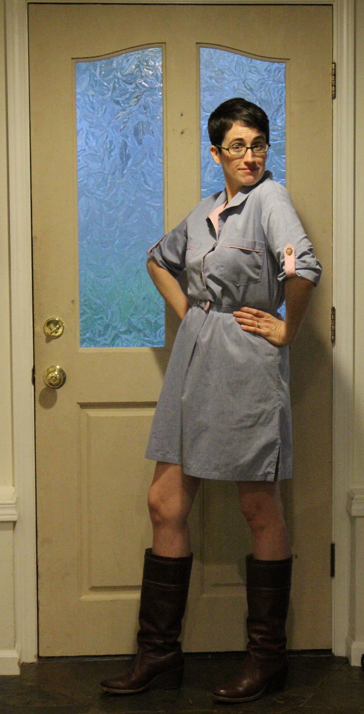 Shirt dress from Butterick 5218 by Sew Maris