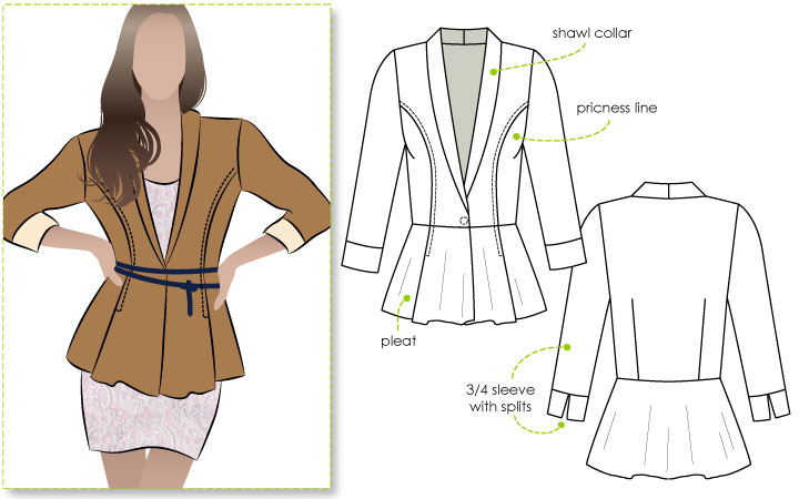 Style Arc Marni Jacket pattern