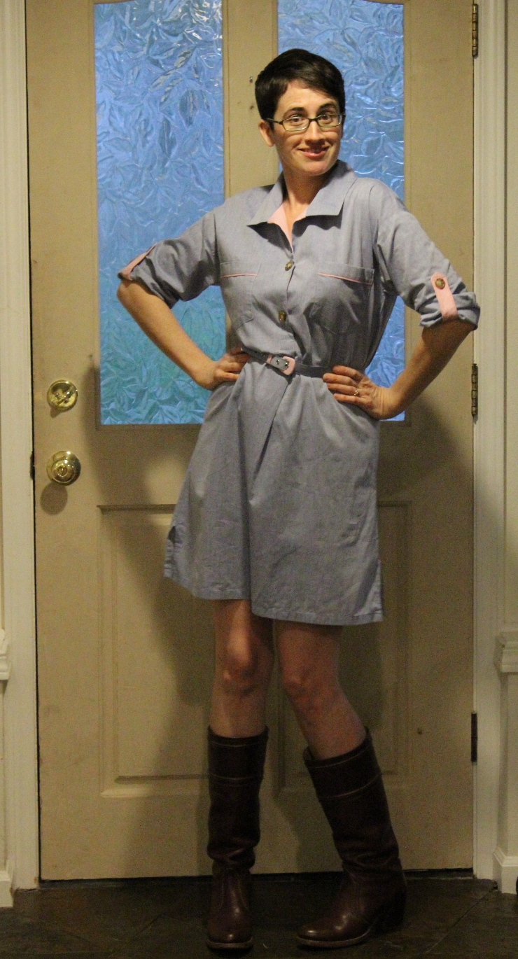 Shirt dress from Butterick 5218 by Sew Maris