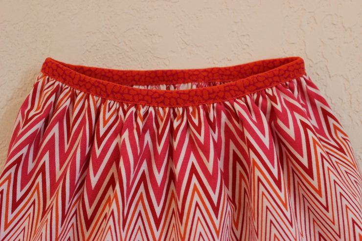 Reversible skirt drafted and sewn by Sew Maris
