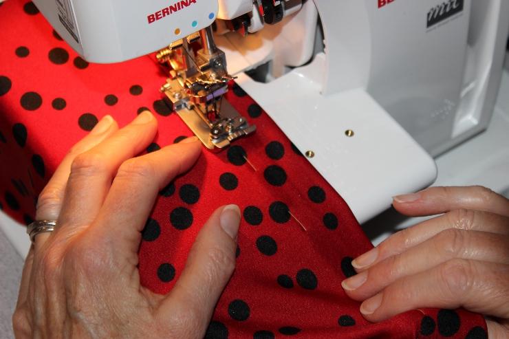 Tutorial: Use a coverstitch to hem knit garments