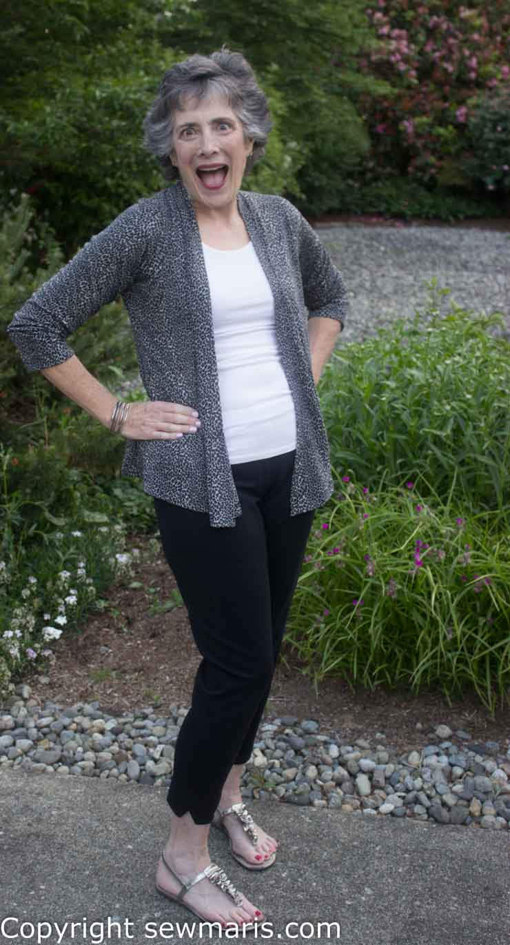 Front drape cardigan how to wear exclusive photo