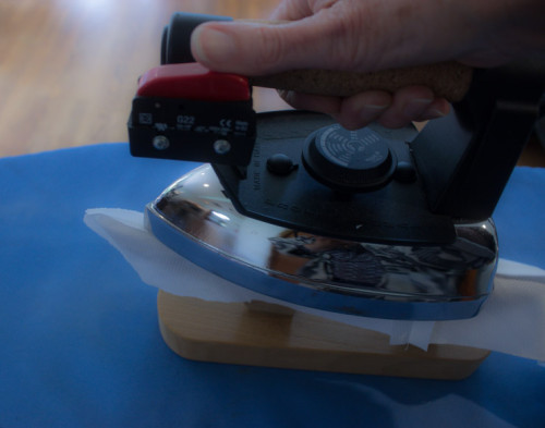 How to iron a collar when making a shirt by Sew Maris