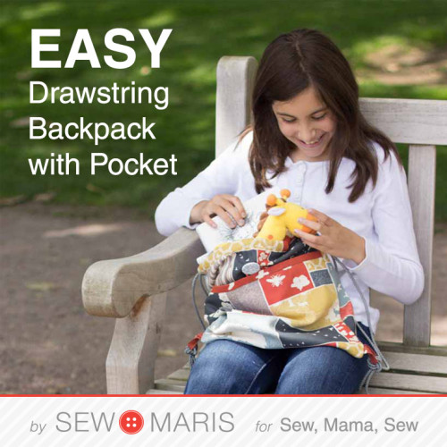 Drawstring backpack by Sew Maris