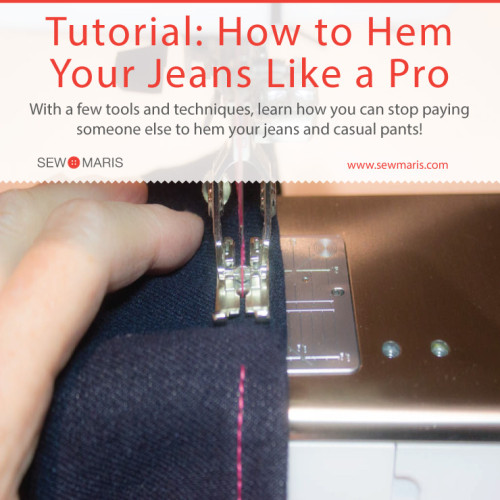 Tutorial: How to Hem Jeans (and Stop Paying For Hemming Alterations)