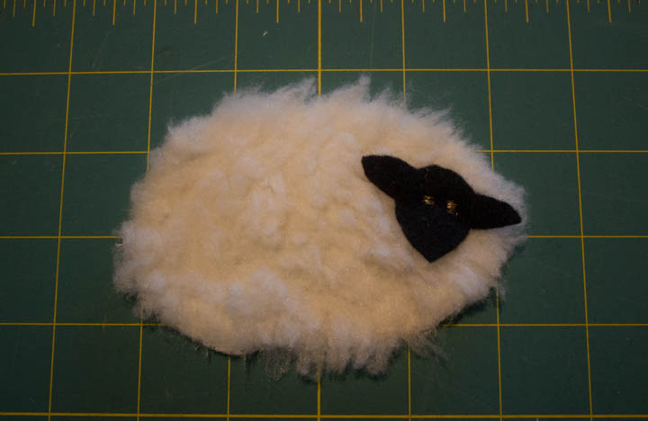 Christmas Wooly Lamb Ornament by Sew Maris