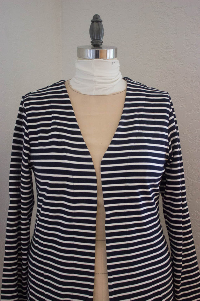 Striped Cosy Cardigan by Sew Maris