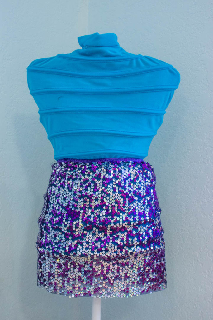Easy sequin pull-on skirt by Sew Maris