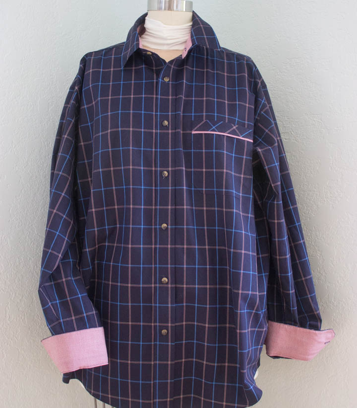 Tailored mens shirt by Sew Maris